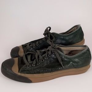 Converse x Varvatos Green Snake Leather Sneakers